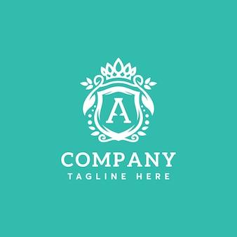 Modèle de lettre beauté a logo