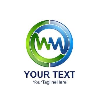 Modèle de lettre initiale wm logo