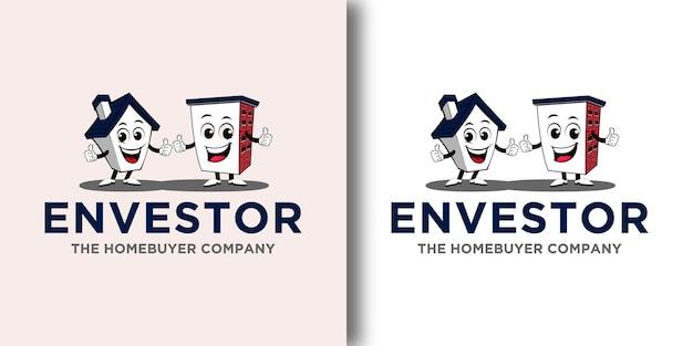 Modèle de lettre de logo vintage avec concept moderne et conception de carte de visite