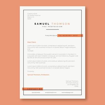 Modèle de lettre de motivation orange simple bicolore