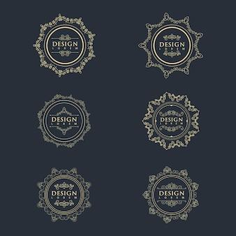 Modèle de ligne de cadre vintage