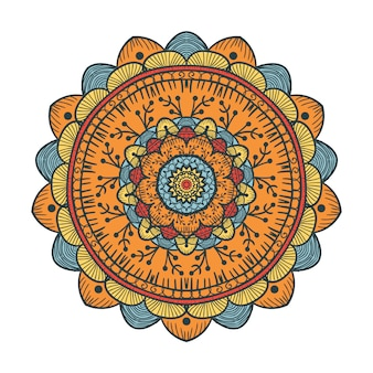 Modèle de ligne mandala