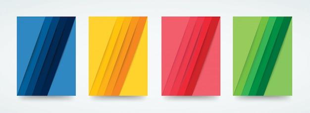 Modèle de lignes colorées