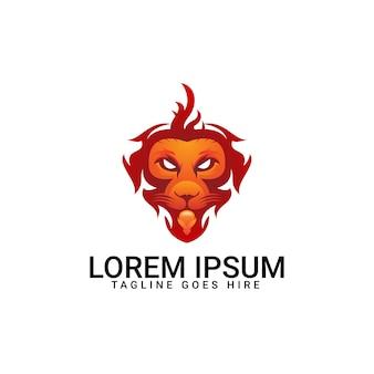 Modèle de lion de logo coloré