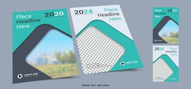 Modèle de livre de couverture pour affiches a4