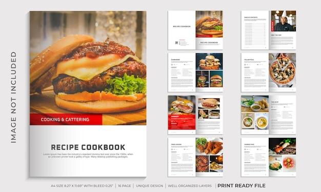 Modèle de livre de cuisine ou conception de modèle de livre de recettes