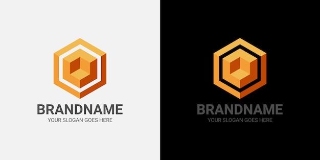 Modèle de logo 3d cube