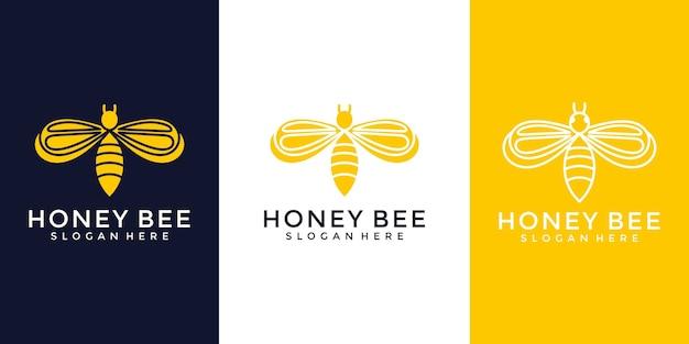 Modèle de logo abeille