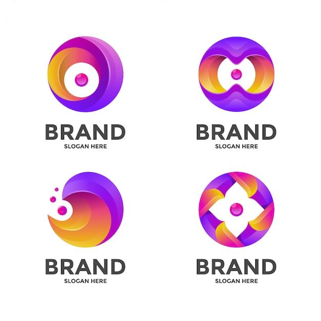 Modèle de logo abstrait cercle
