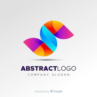 Modèle de logo abstrait coloré