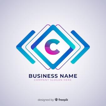 Modèle de logo abstrait dans un style dégradé