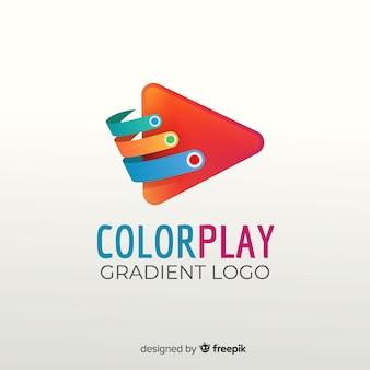 Modèle de logo abstrait dégradé