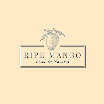 Modèle de logo abstrait de fruits exotiques.