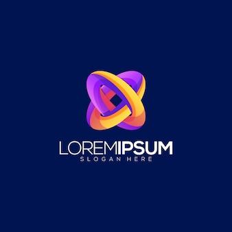 Modèle de logo abstrait génial