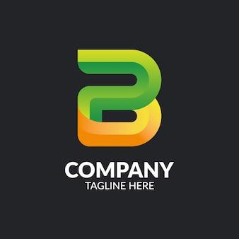 Modèle de logo abstrait lettre b