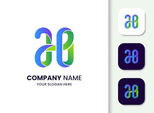 Modèle de logo abstrait lettre h