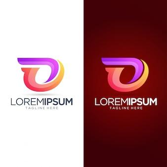Modèle de logo abstrait lettre o