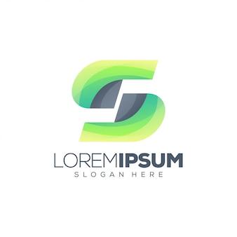 Modèle de logo abstrait lettre s