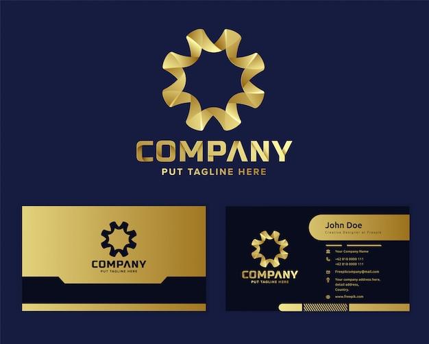 Modèle de logo abstrait de luxe premium pour les entreprises