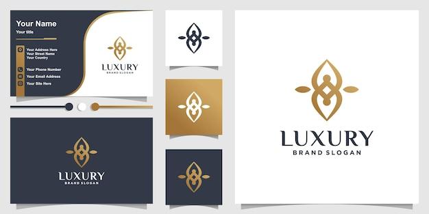 Modèle de logo abstrait de luxe vecteur premium