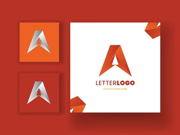 Un modèle de logo abstrait majuscule