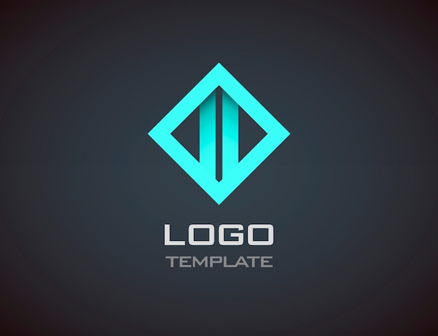 Modèle de logo abstrait de mode bijoux luxe concept. entreprise