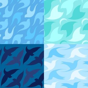 Modèle de logo abstrait oiseau. symbole de concept technologie créatif colombe colombe business
