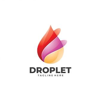 Modèle de logo abstrait technologie de gouttelettes d'eau