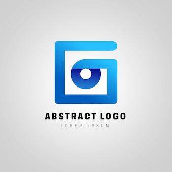 Modèle de logo abstrait