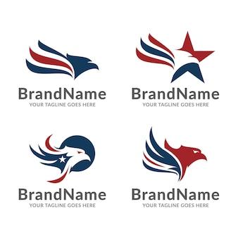 Modèle de logo aigle américain