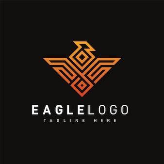 Modèle de logo aigle géométrique