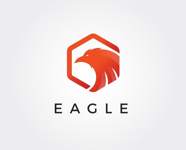 Modèle de logo aigle minimal