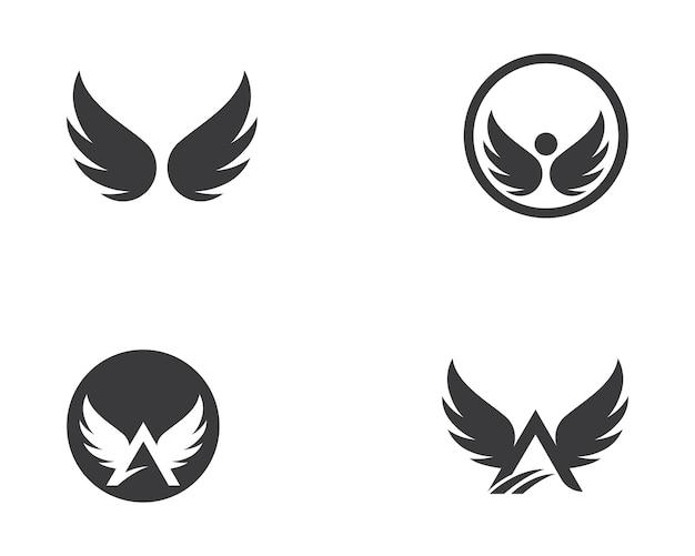 Modèle de logo de l'aile falcon