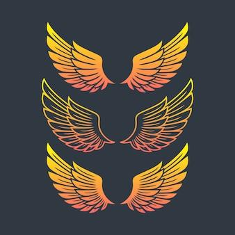 Modèle de logo ailes
