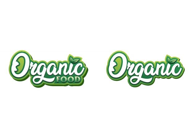 Modèle de logo d'aliments biologiques