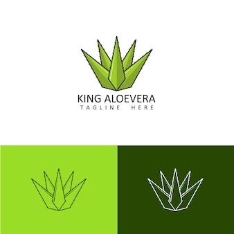 Modèle de logo d'aloe vera