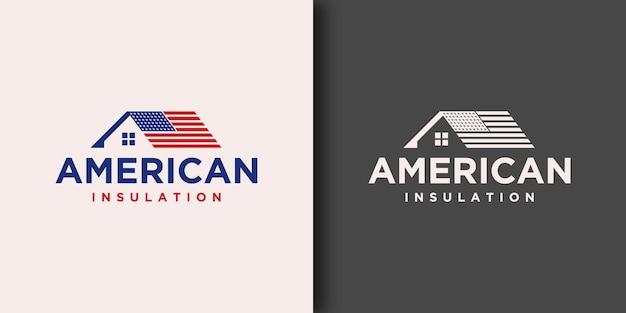 Modèle de logo america insulation avec concept moderne