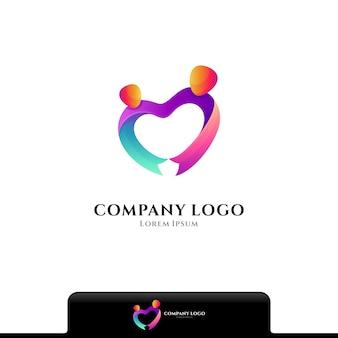 Modèle de logo d'amour de charité