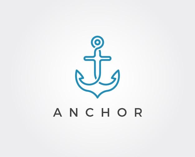 Modèle de logo d'ancrage minimal