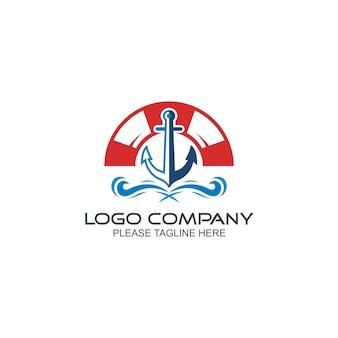 Modèle de logo d'ancre