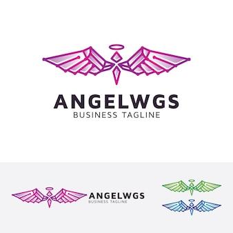 Modèle de logo angel wings