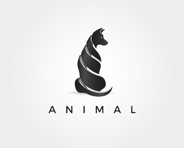 Modèle de logo animal minimal