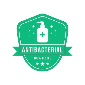 Modèle de logo antibactérien