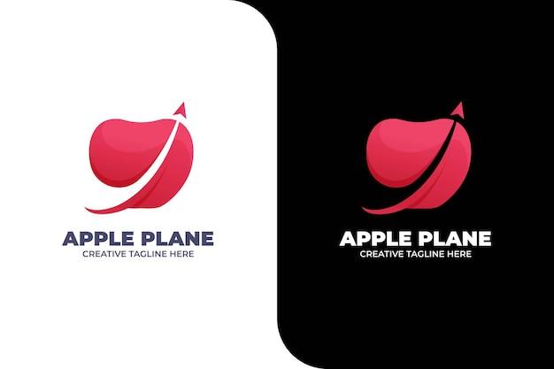 Modèle de logo apple abstrait
