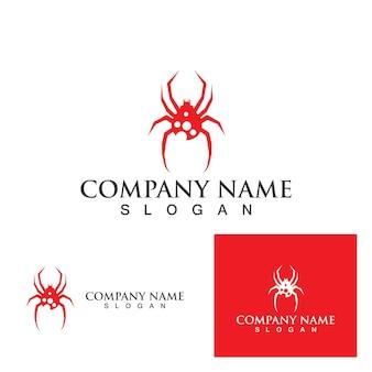 Modèle de logo araignée eps10