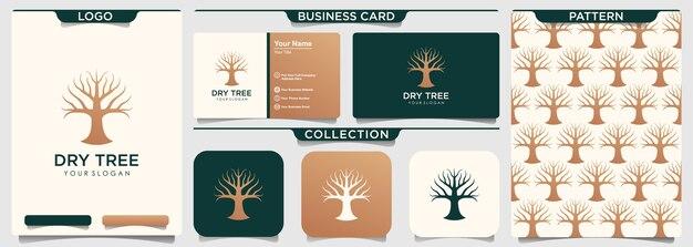 Modèle de logo d'arbre sec.