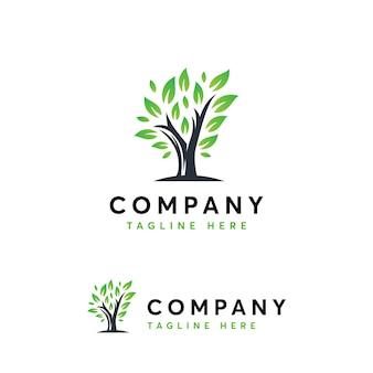 Modèle de logo d'arbre