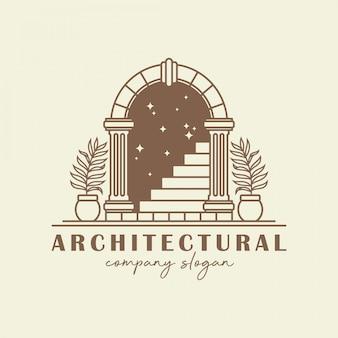 Modèle de logo d'arche antique.