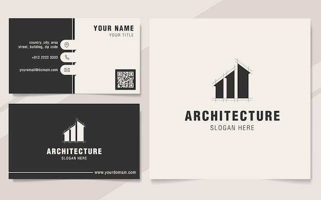Modèle de logo d'architecture moderne