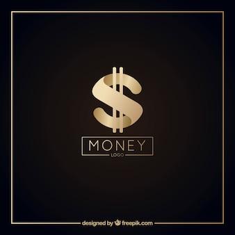 Modèle de logo d'argent élégant